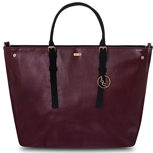 Torba damska shopper bag FELICE Grazia bordowa