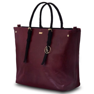 Torba damska shopper bag FELICE bordowa