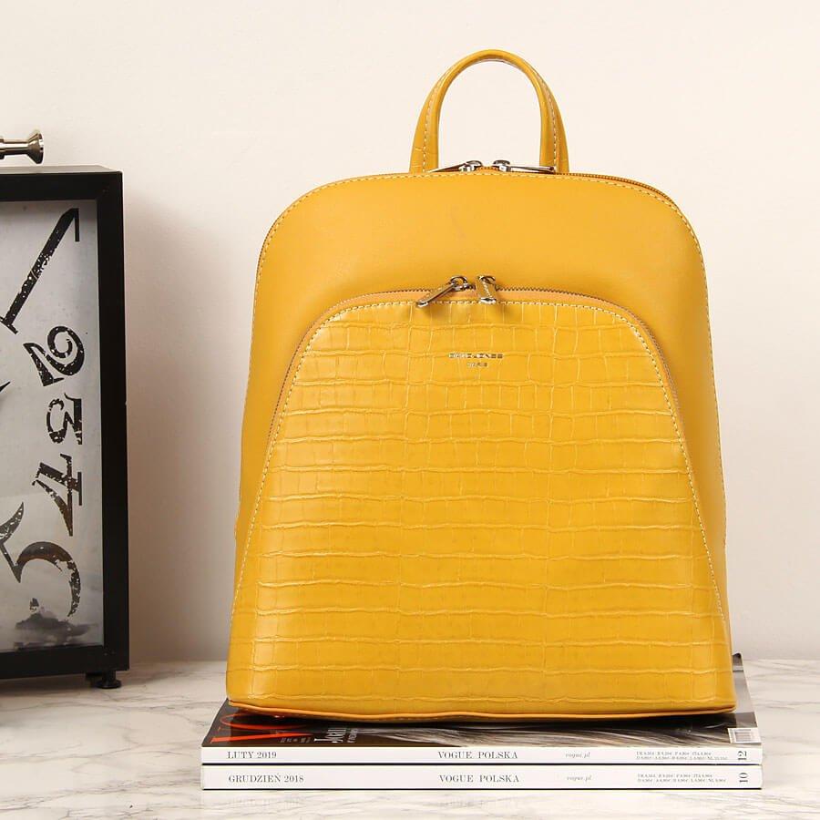 Plecak damski żółty David Jones TE2015