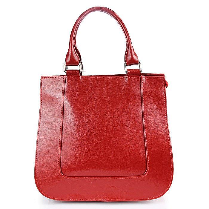 DAN-A T228 czerwona torebka skórzana kuferek