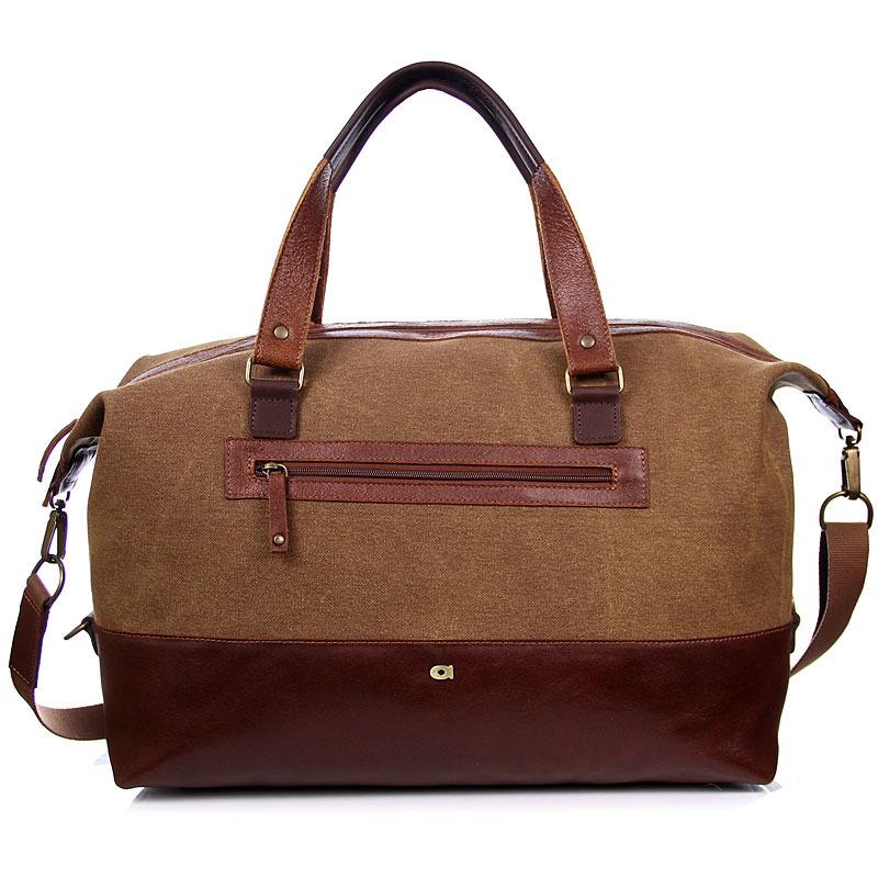 Skórzana torba i z tkaniny bawełnianej jasnobrązowa DAAG Clou Next 12