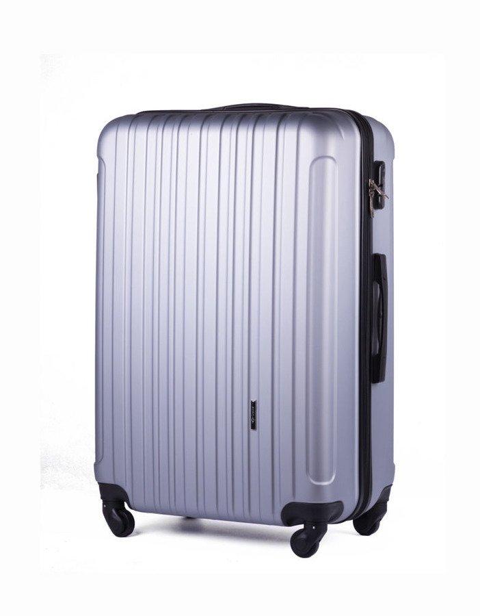 Średnia walizka podróżna na kółkach SOLIER STL2011 M ABS srebrna