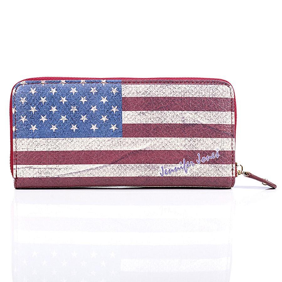 portfel z motywem flagi amerykańskiej