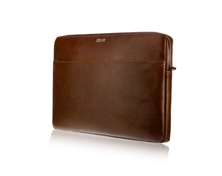 Skórzany pokrowiec na laptopa 13 cali Solier SA24 Brązowy