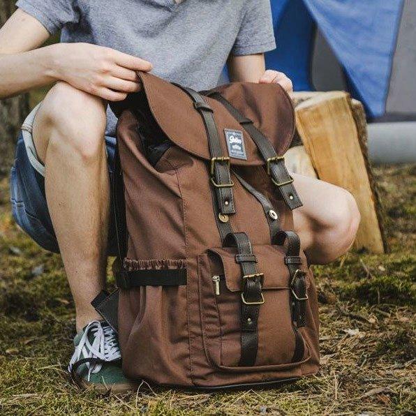 Wodoodporny plecak męski SOLIER SV01 brązowy