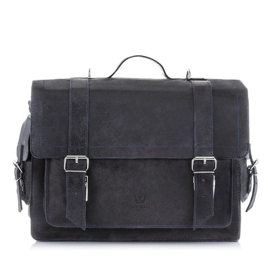 Skórzana torba i plecak 2w1 PAOLO PERUZZI GA320 czarny