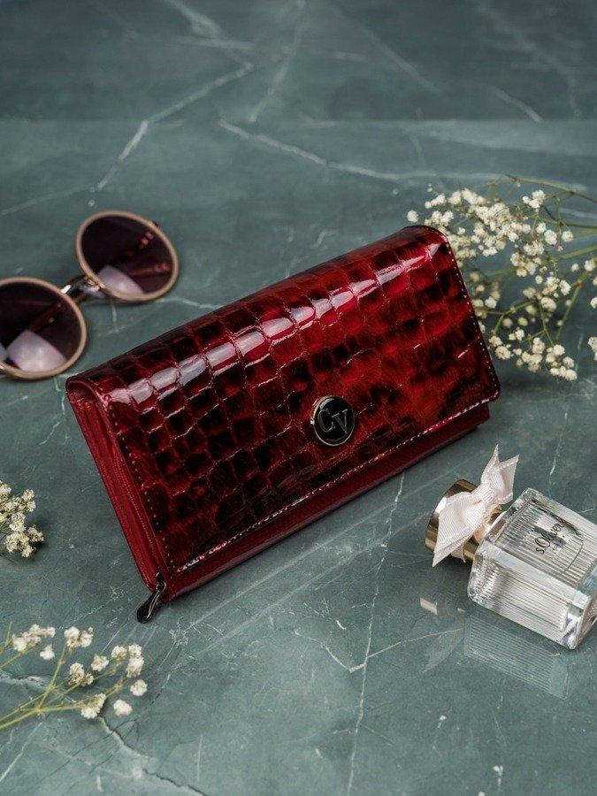 Portfel damski skórzany Cavaldi czerwony H20-1-PT