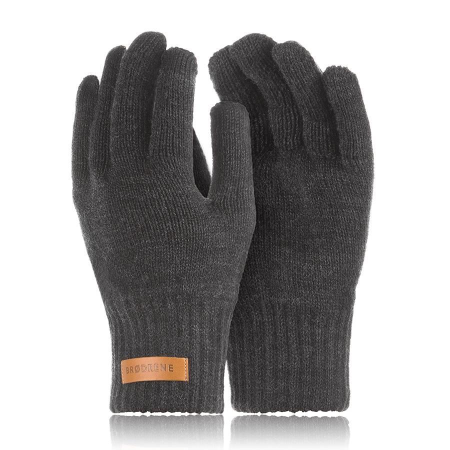 Rękawiczki męskie zimowe do smartfonów Brodrene R1 ciemnoszare