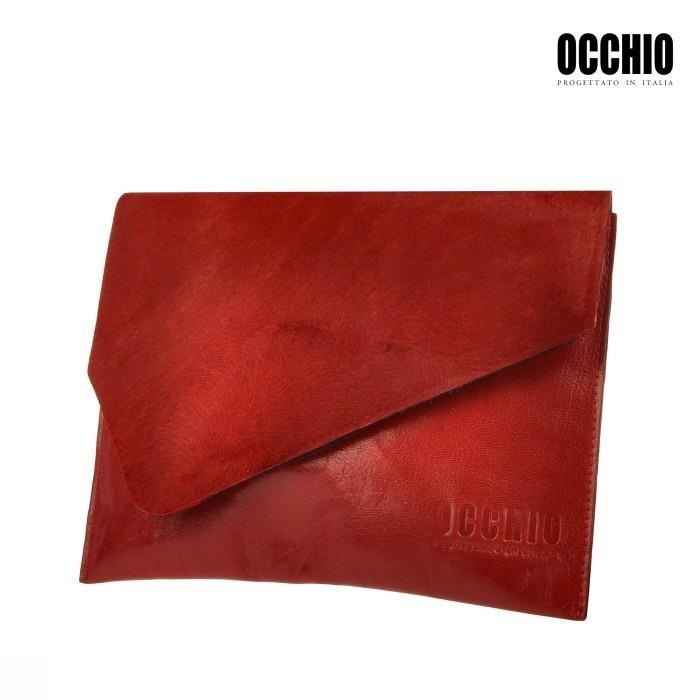 włoska torebka skórzana kopertówka