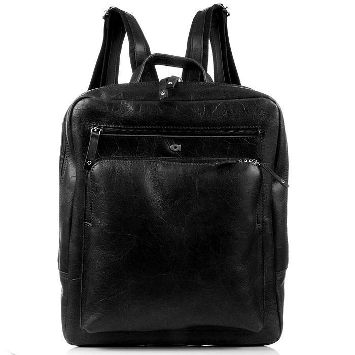 DAAG FUNKY GO! 20 czarny plecak skórzany na netbook unisex