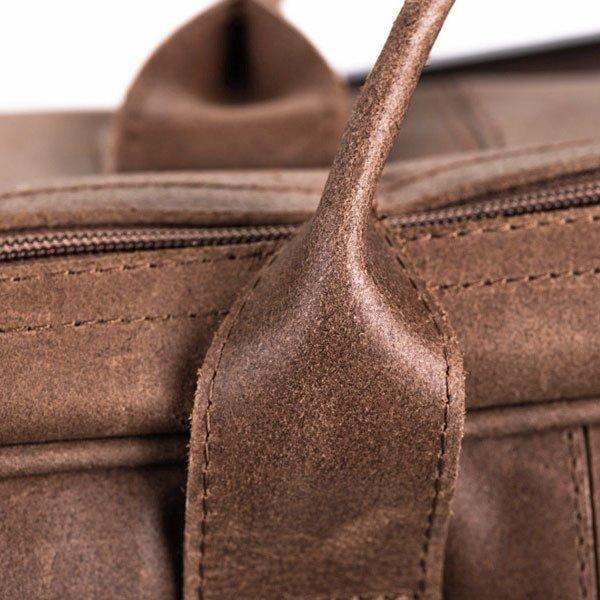 Skórzana torba podróżna BRODRENE BL10 jasnobrązowa