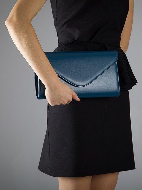 Elegancka kopertówka damska wizytowa FELICE Clutch F03 paryski błękit