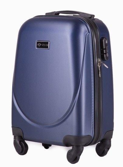 c58318b2e0b6d Mała walizka podróżna na kółkach (bagaż podręczny) SOLIER STL310 S ABS  granatowa ...