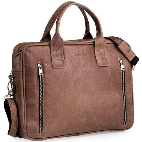 52ed225ece511 Skórzana torba męska na laptop BRODRENE BL02 jasnobrązowa - [14235 ...