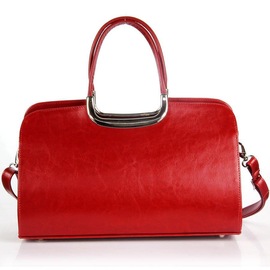 DAN-A T260 czerwona aktówka kuferek ze skóry naturalnej