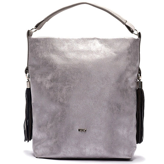 Torba damska shopper bag FELICE silver